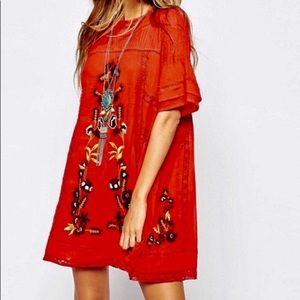 Free People Perfectly Victorian embroidered dress